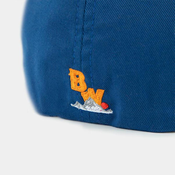 Brave Wilderness hat in blue backside