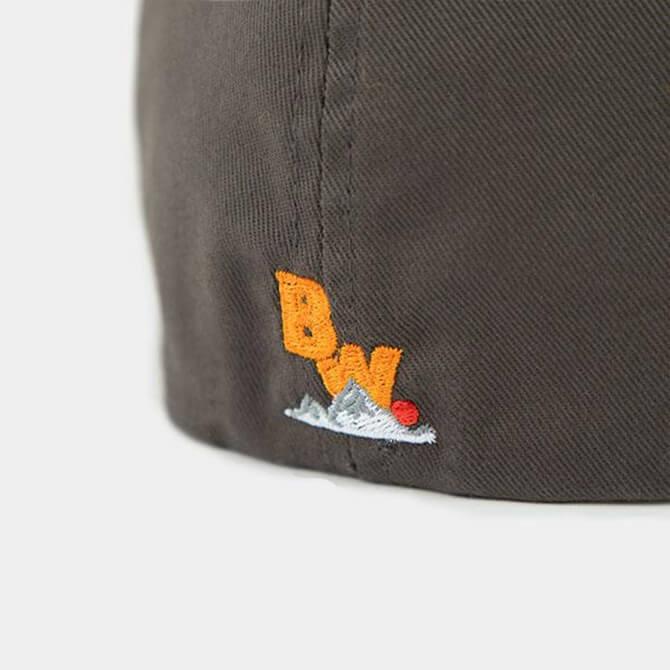 Brave Wilderness hat in gray backside